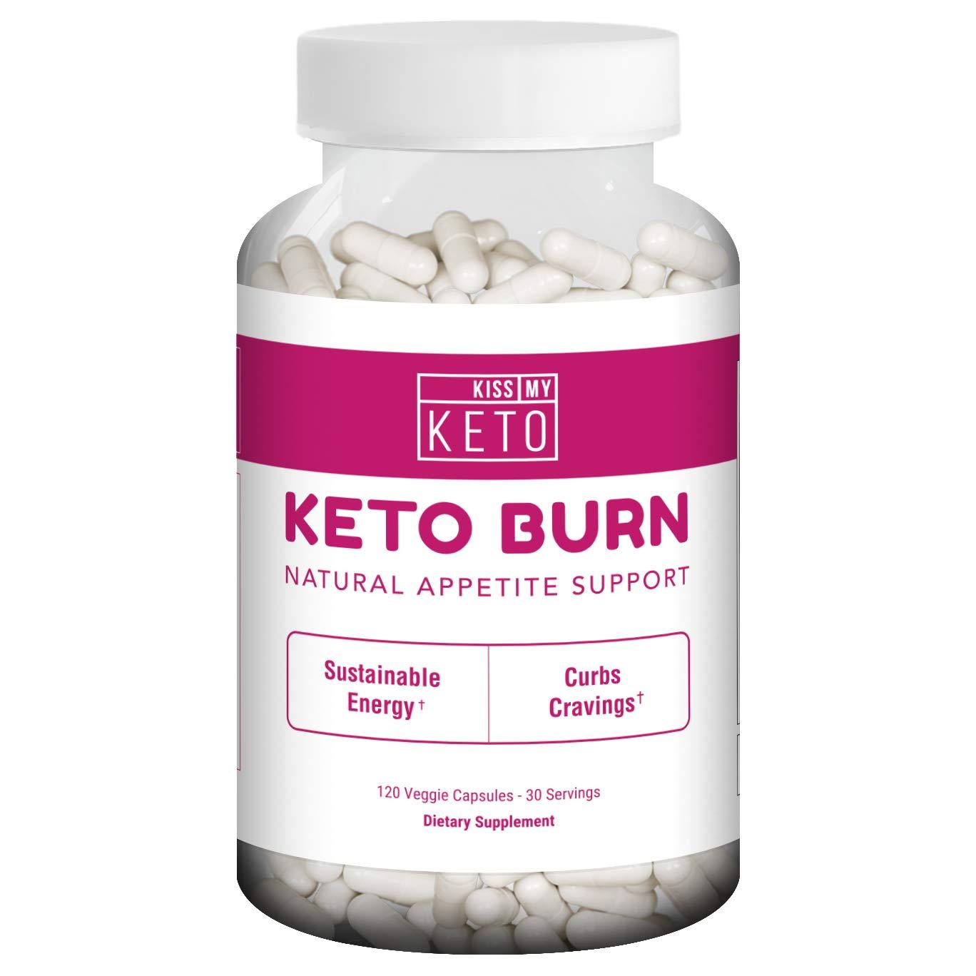 Kiss My Keto Burn Capsules - 120 Vegetable Capsules for Natural Appetite Support, L Carnitine, Garcinia Cambogia, Apple Cider Vinegar, CLA, Coleus Forskohlii