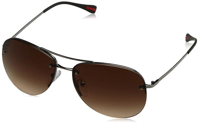 86134d7a709c3 50RS 1BC1M059 (59 Mm) Sunglasses  Prada Sport  Amazon.co.uk  Clothing