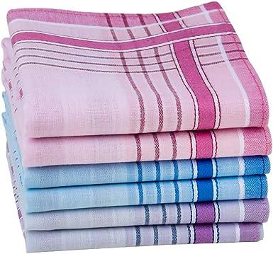 HOULIFE - Pañuelos de algodón peinado puro, 3 colores, para uso ...