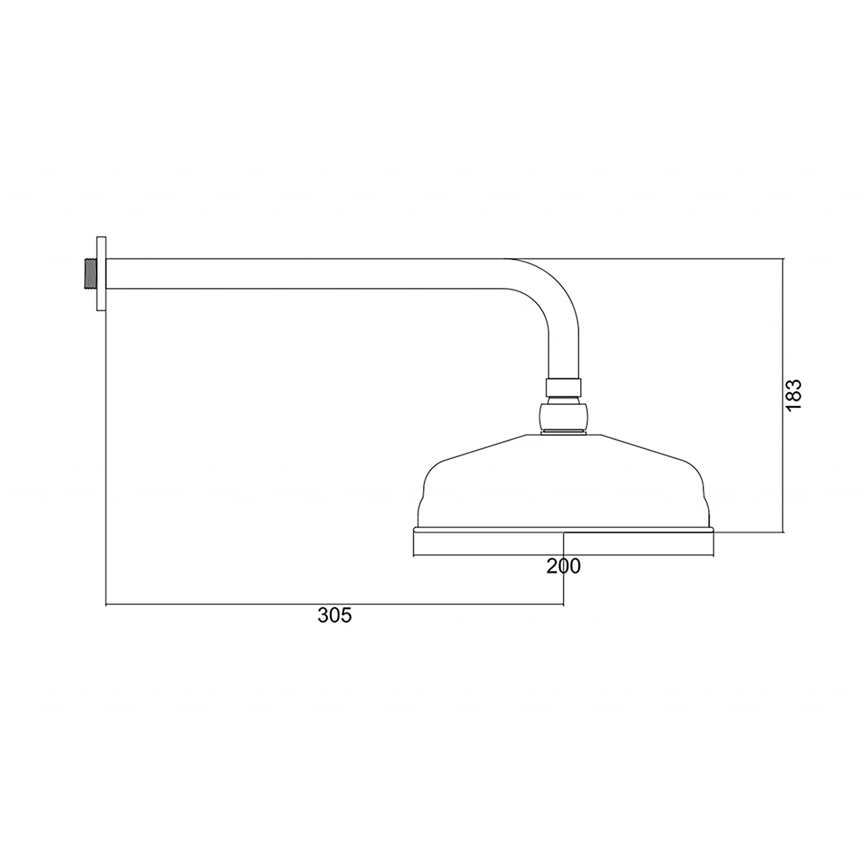 ENKI grifo mezclador termost/ática set ducha telesc/ópic lat/ón traditional vintage