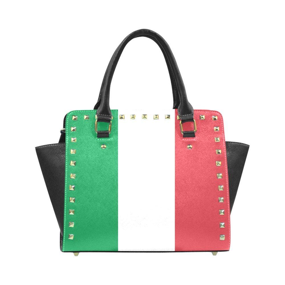 ADE Fashion Custom Flag of Italy Rivet Shoulder Handbag Classic Studded Bag Top-Handle Bag M1645