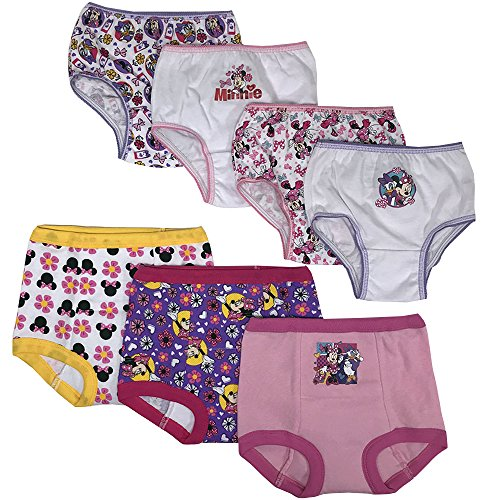 Disney Minnie Mouse Girls Potty Training Pants Panties Underwear Toddler 7-Pack Size 2T 3T 4T (Size 2t Underwear)