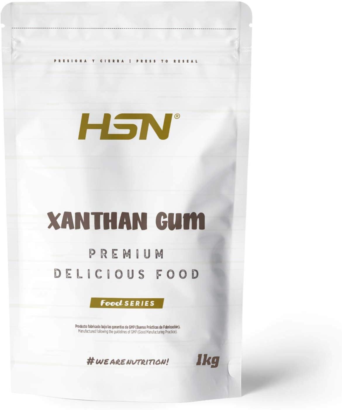 Goma Xantana de HSN | Espesante Alimenticio | Ideal para Recetas Fitness | Fibra Soluble para dar Espesidad | Vegano, Sin Gluten, Sin Lactosa, En ...