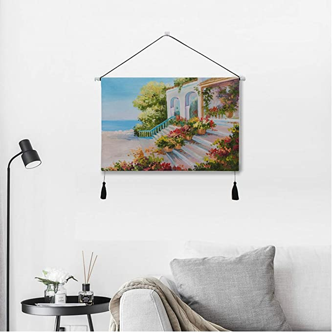 Amazon Com Qiyi Wall Art Room Decor Beautiful Cartooon Art Romantic City Unique Art Wall Decor 17 5 X 24 5 Inches 45cm X 62cm Wall Art For Apartment Dorm Room Backdrop Home Decor