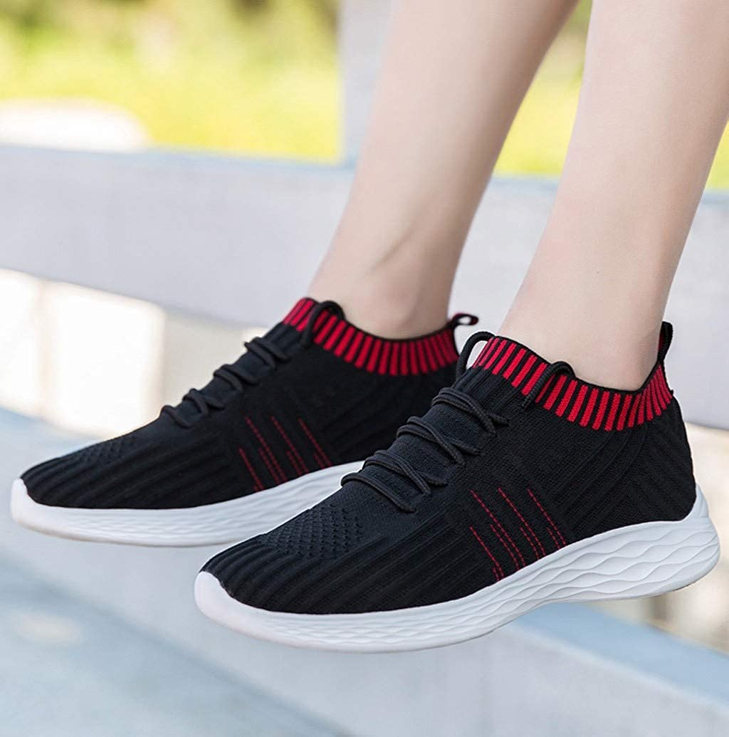 Women Socks Shoes Casual Lightweight Lace-Up Running Sneakers Breathable Fitness Tennis Shoes by Nevera
