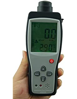 Digital Portable NH3 Meter Ammonia Gas Detector with LCD Backlight Rechargeable Battery,Measuring Range 0