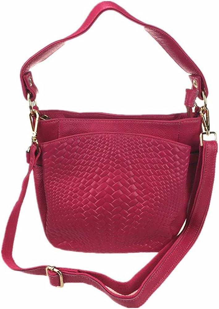 Real Genuine Leather Crossbody Shoulder Fashion Multi Pocket Bag Handbags For Women Girls