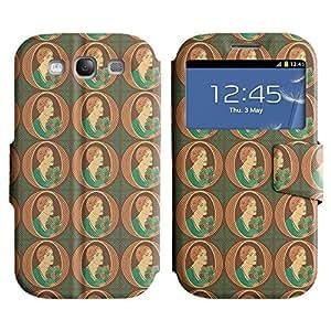 LEOCASE mujer elegante Funda Carcasa Cuero Tapa Case Para Samsung Galaxy S3 I9300 No.1002615