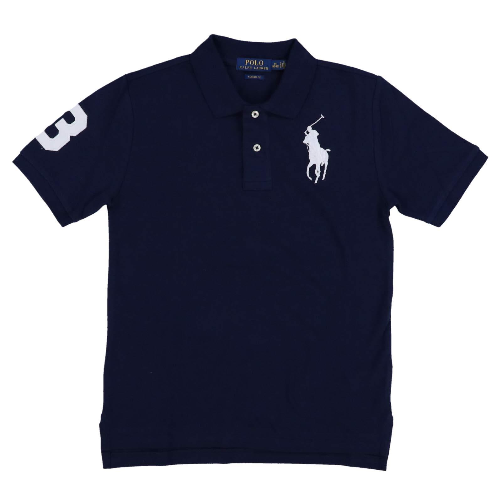 Polo Ralph Lauren Boys Classic Big Pony Polo Shirt (Small (8), Navy Blue)