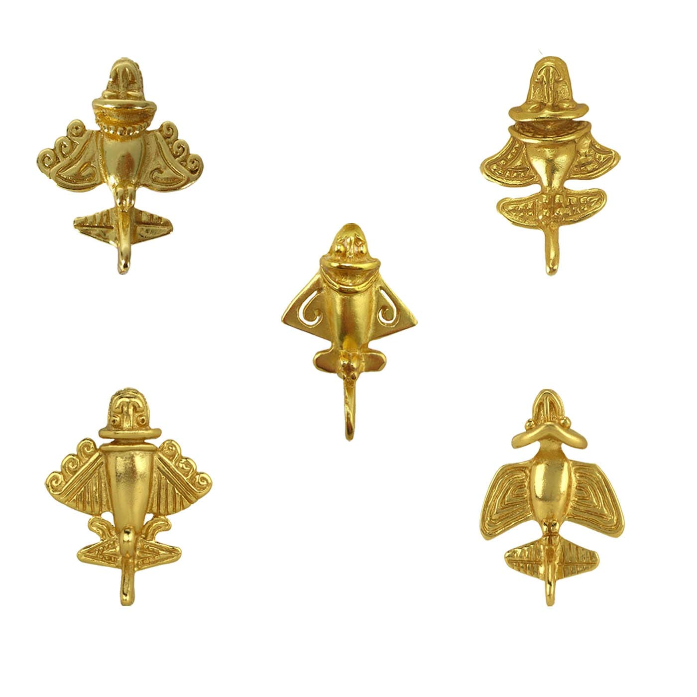 Across The Puddle Five Golden Jets Military Pins Bundle-1