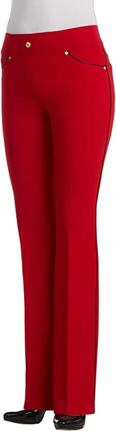 Nygard Womens Petite Slims 2.5 Boot Cut With Piping