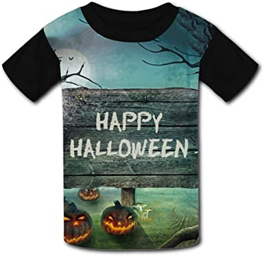 Kids//Youth Fashion Halloween Pumpkin Comfortable T-Shirts Short Sleeve Children Tees Funny Creative