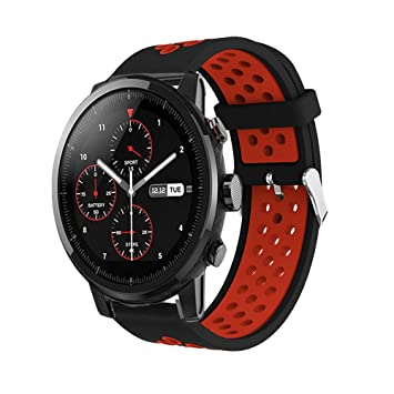Saisiyiky Correa de Reloj Xiaomi Huami Amazfit,22mm de Silicona Ajuste rápido Pulsera de Repuesto para Pulsera Deportiva Smart Watch