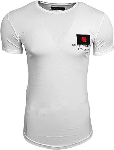 Subliminal Mode SB15110 - Camiseta asimétrica para Hombre, diseño de Bandera Japonesa: Amazon.es: Ropa y accesorios