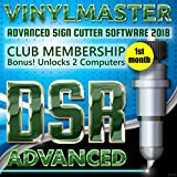 Graphic Sign Design Print Cut Software VinylMaster DSR Subscription (monthly fee) Unlock 2 PCs