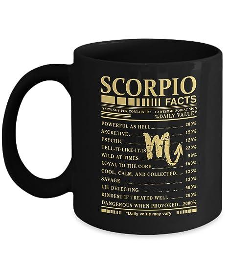 Scorpio Facts Awesome Zodiac Sign Coffee Mug Gifts