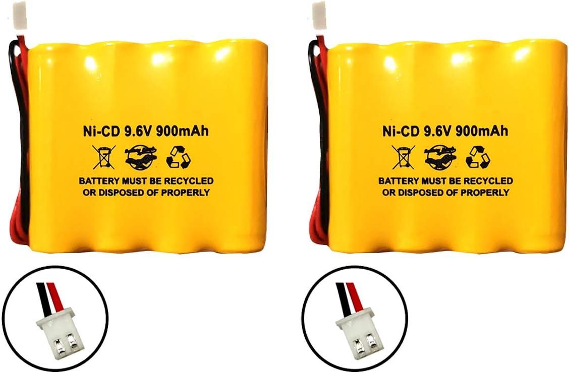 (2 Pack) 9.6v AA900mAh Ni-CD 9.6v AA700mAh Ni-CD Exit Sign Emergency Light Battery Pack Replacement Batteryhawk, LLC