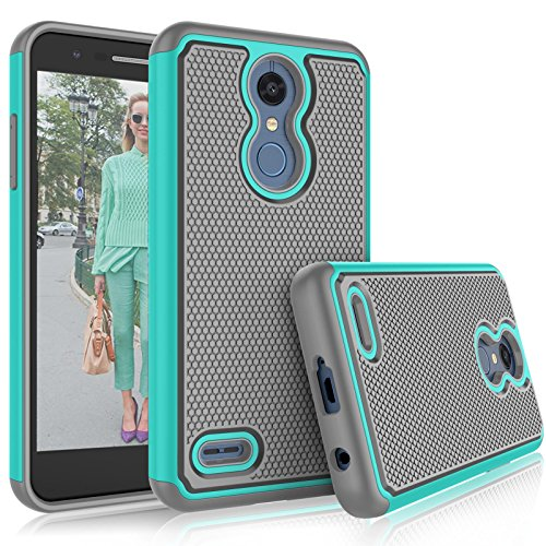 Tekcoo LG K30 / LG Harmony 2 Case, LG K30 Plus/LG Phoenix Plus/LG Premier Pro LTE Cute Case, [Tmajor] Shock Absorbing [Turquoise] Rubber Silicone Plastic Scratch Resistant Sturdy Grip Hard Cases Cover