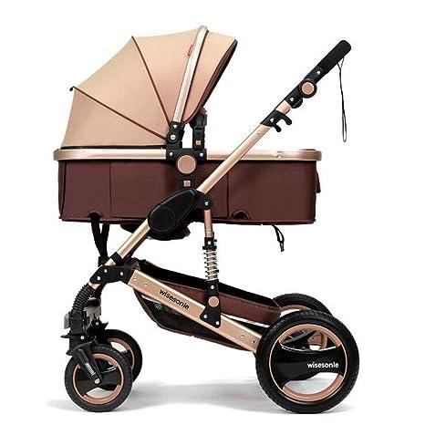 YBL Alto paisaje plegable Reclinable Cuatro rondas muñecas sillas de paseo De dos vías Cochecito Bebé