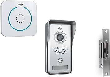 Elro - Videoportero con timbre inalámbrico y apertura de puerta ...