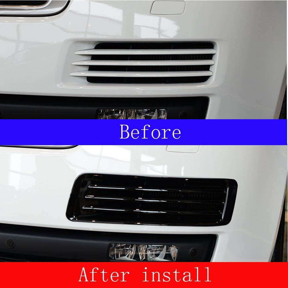 ABS Plastic Chrome Front Fog Light Grille Cover Trim Accessories for Landrover Range Rover Vogue LR405 2013-2017 Gloss black by Autobro (Image #2)