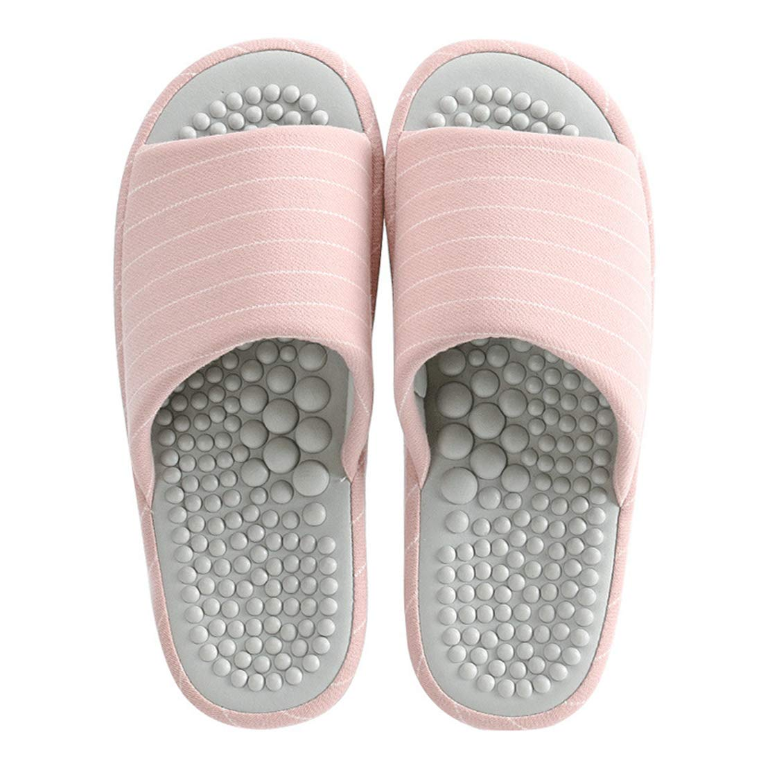 923f4fc337469 Unisex Home Foot Massage Acupressure Slippers Couple Non-Slip Sole Massage  Foot Slipper Cotton House Sandals Indoor Casual Open Toe Shoes for Women ...