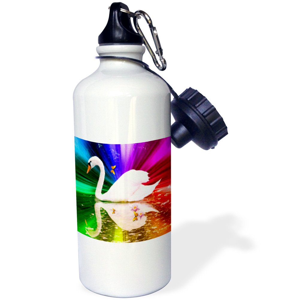 21 oz White 3dRose wb/_1097/_1Coffee Cup Sports Water Bottle
