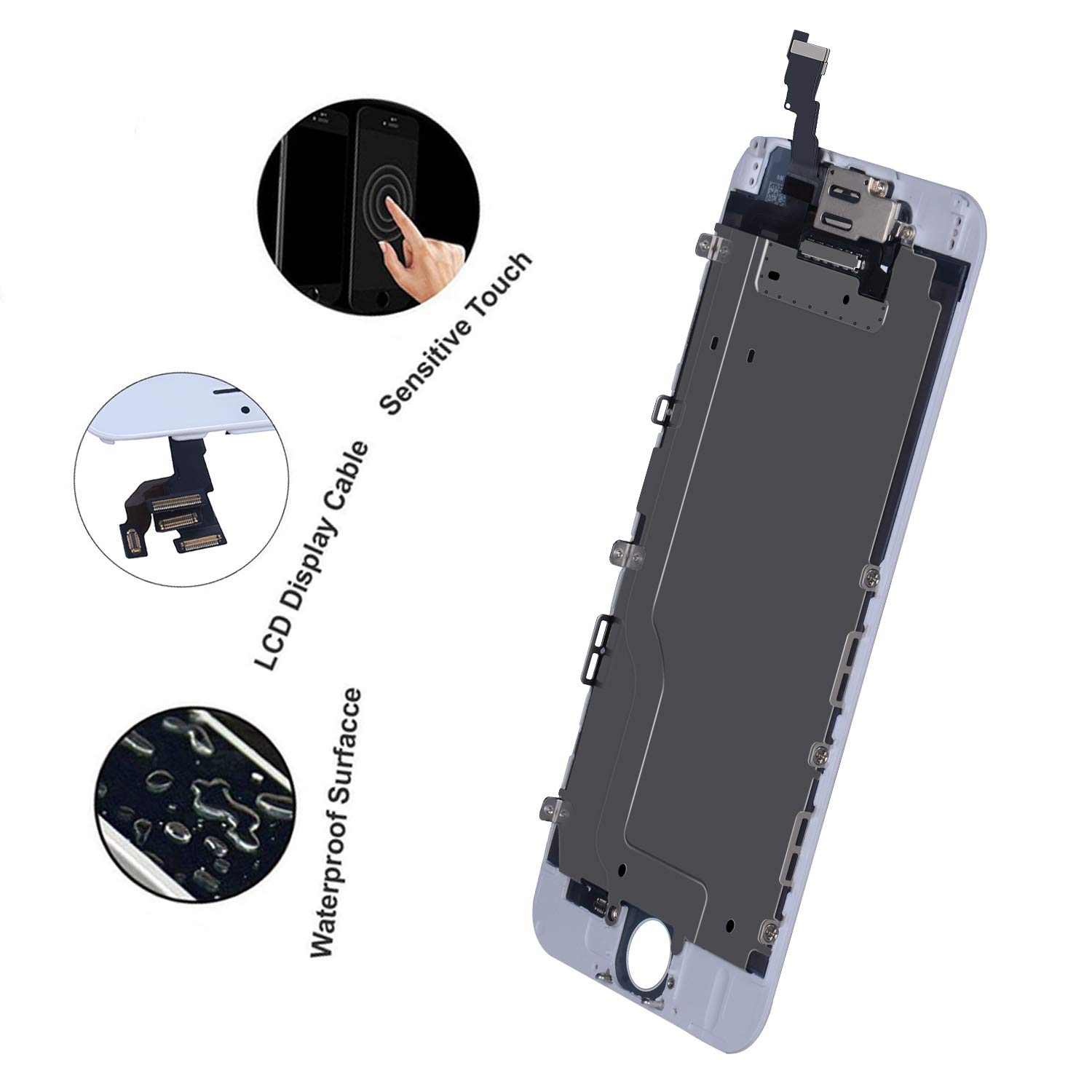 8ffad235457305 BeeFix Compatible iPhone SE/5S LCD Display Touch Screen Digitizer  Replacement Kit with Free Repair Tools ...