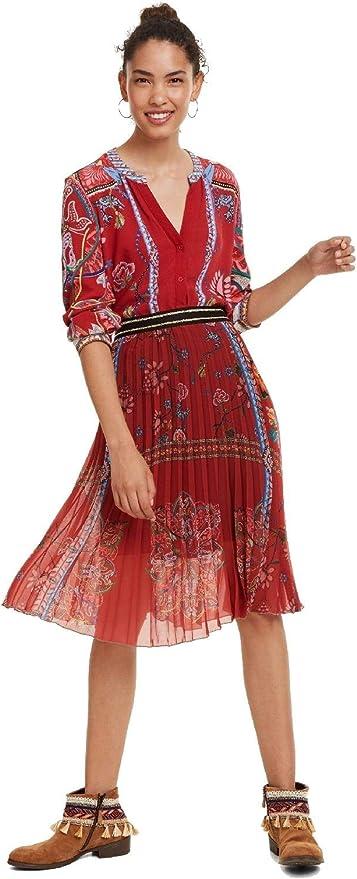 Desigual - Falda Francia Mujer Color: 3000 Talla: Talla 40: Amazon ...