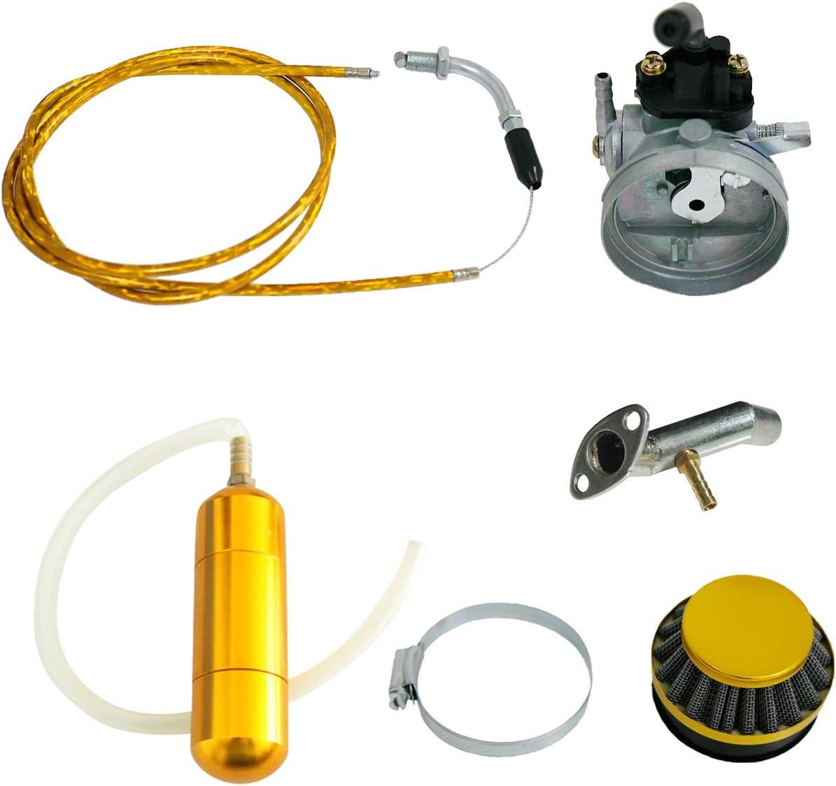 NORTHTIGER Yellow Carburetor/&Power Boost Bottle/&Air Filter Fit 49//60//66//80cc Motorized Bike