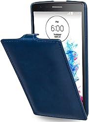 StilGut® UltraSlim Case, custodia in pelle per LG G3s, blu notte