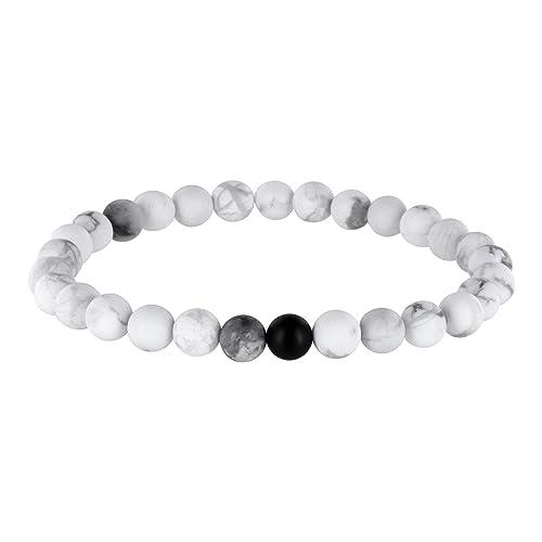 nuovo concetto 539c1 1cac4 Coppia di bracciali con perle bianche opache, braccialetto ...