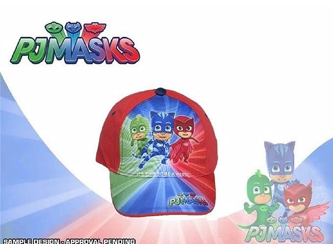 pj mask Gorro - para niño Rojo azul 52 cm