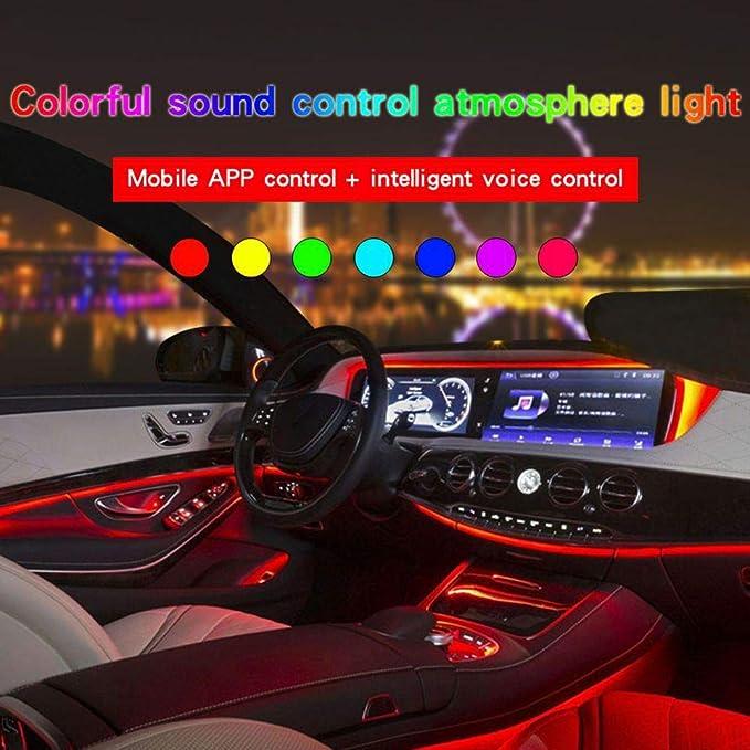 Car Interior Ambient Light illumination Optic Fiber Band For Infiniti /& Renaul