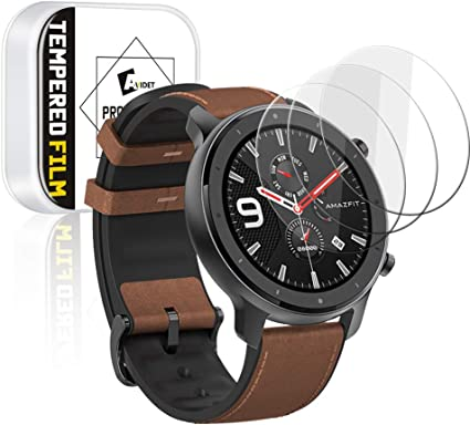 Amazon.com: Amazfit GTR 47mm Screen Protector, AVIDET 9H ...