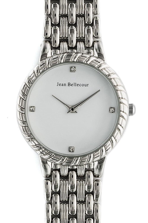 Jean Bellecour – reds21-sw Damen-Armbanduhr 045J699 Analog weiß Armband Stahl versilbert