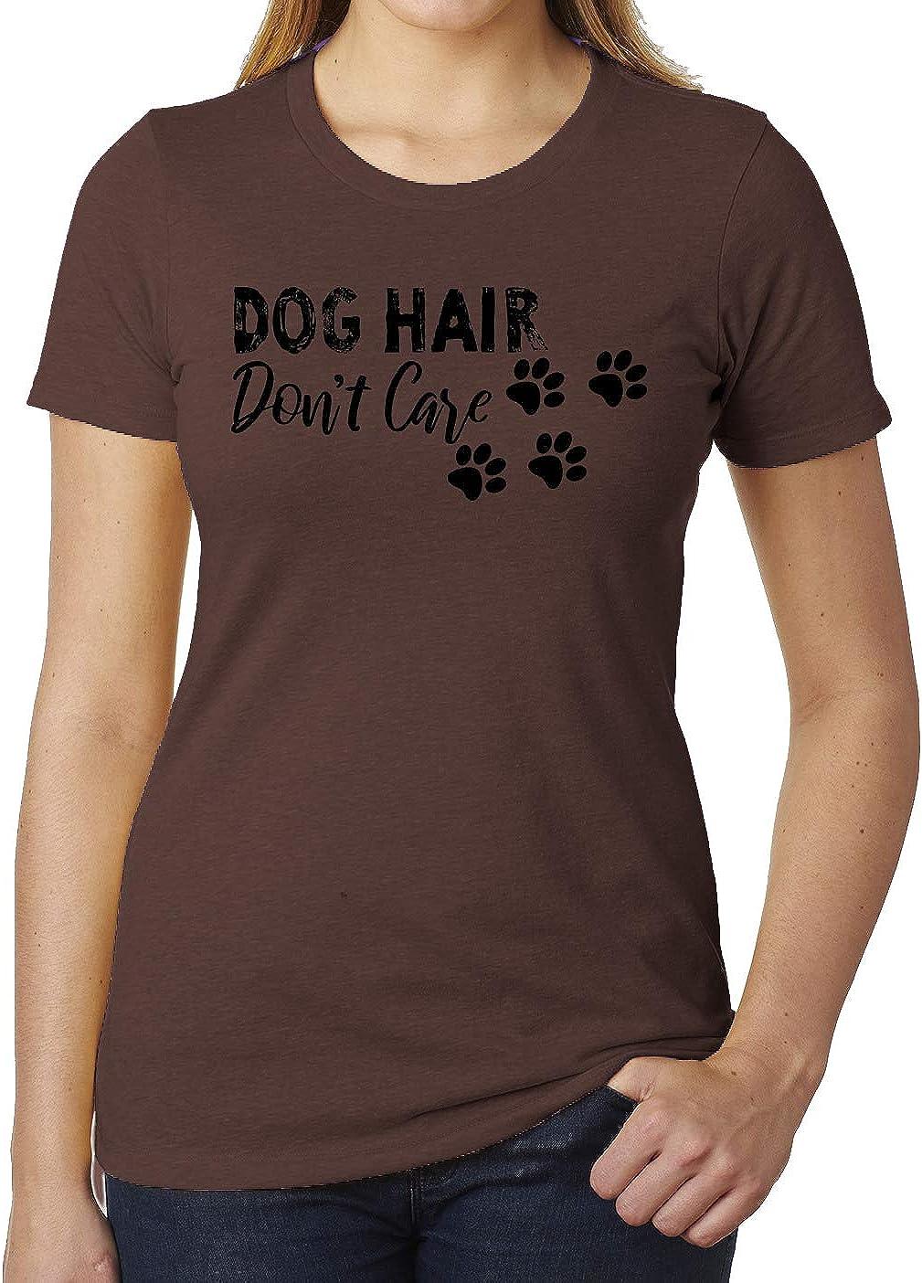 Mato & Hash Dog Hair Don't Care, Woman's Dog Shirts, Cute Graphic T-Shirts