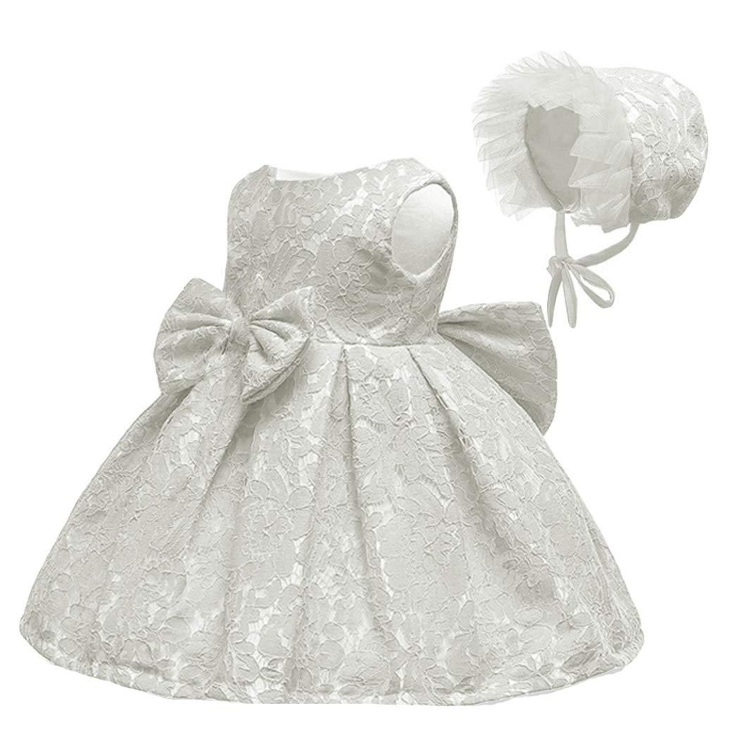 LZH Abito da Battesimo Bambina in Pizzo Costume da Cerimonia per Principessa...