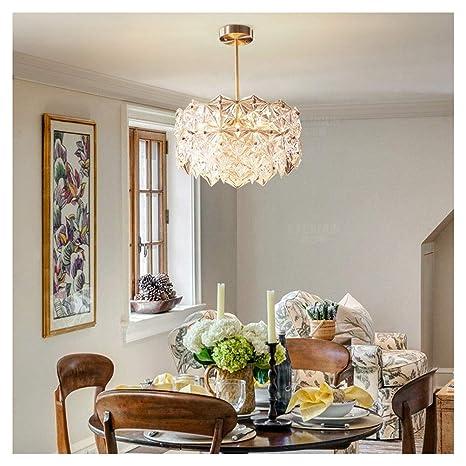 DE_ZHAO Lámpara Colgante de luz Simple Moderna lámpara de ...