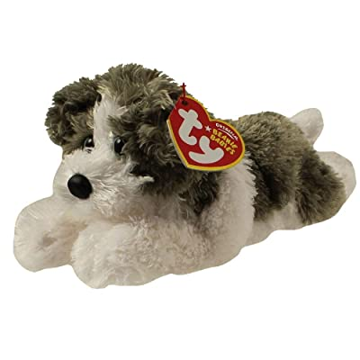 TY Beanie Baby - FETCH the Dog (Grey & White Version): Toys & Games