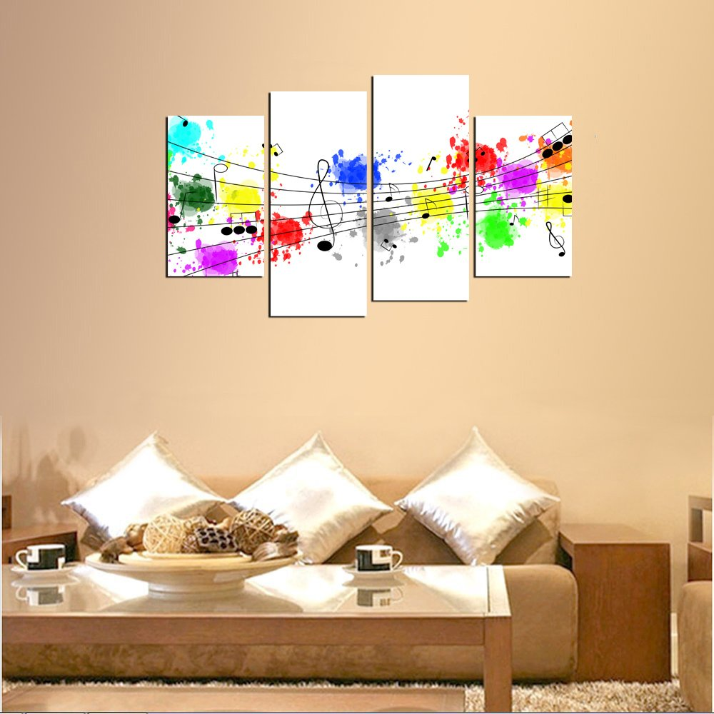 Amazon.com: NAN Wind 4Pcs Giclee Canvas Prints Artwork Abstract ...