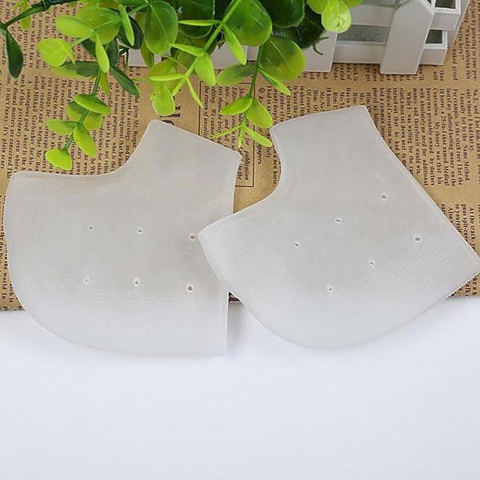 LINAG Heel Protección Calcetines de Tacón Anti-Crack Respirable Vendaje Espolones Callos Agrietada Piel 5 pares Talón Pies Selección Aleatoria de Colores: ...