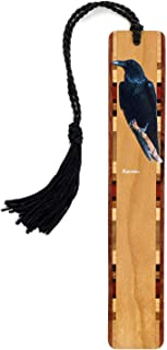 product image for Personalized Raven (Double Sided) Wooden Bookmark with Tassel