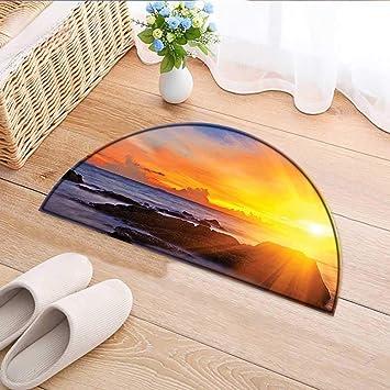 Amazon Com Kitchen Rugs Floor Mats Seaside With Bright Light