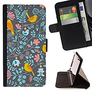 Jordan Colourful Shop - floral wallpaper pattern teal pink For Apple Iphone 6 - Leather Case Absorci???¡¯???€????€????????&cen