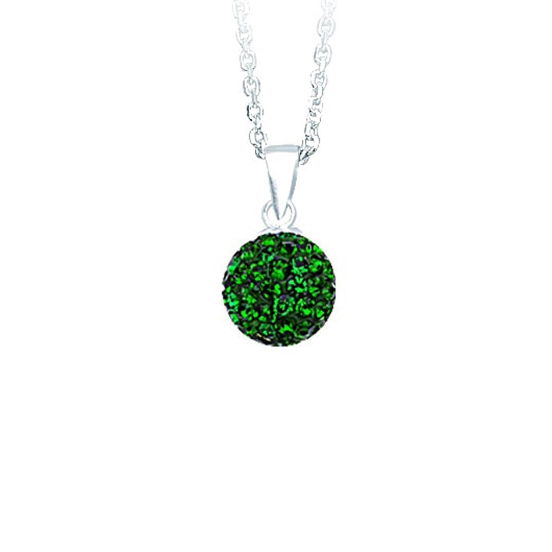 2624P Emerald//Adj Cab035 DiamondJewelryNY Silver Pendant