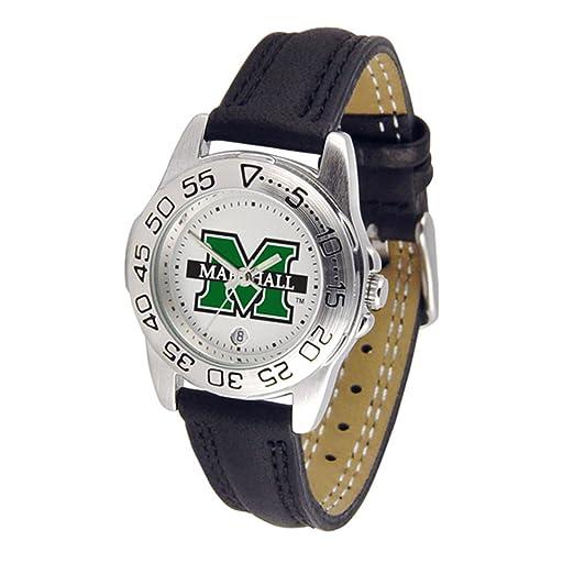 SunTime Marshall Thundering Herd Deporte Reloj de Pulsera de Mujer: Amazon.es: Relojes