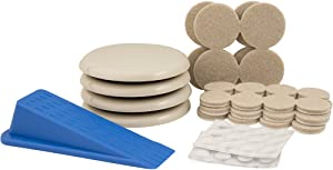SuperSliders 4714995N 61 Piece Assorted Value Pack, Home Protection Kit- Protect Floors from Damage while Moving Furniture Quickly and Easily Across Flooring Surfaces, Tan