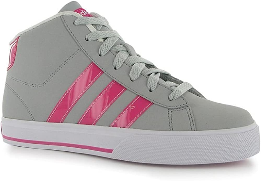adidas Girls High Top Trainers Neo Daily Mid NB Pink Grey UK Child ...