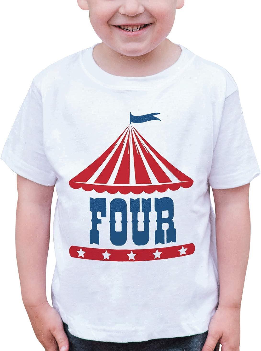 7 ate 9 Apparel Boys Birthday Four Circus T-Shirt